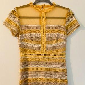 Francesca's Mini Dress w/ Embroidery